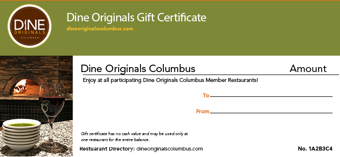 Discount Restaurant Certificates Dine Originals Columbus