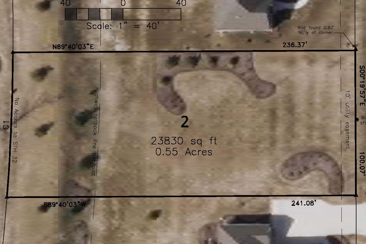 Lot 2: .55 Acres  – $54,900