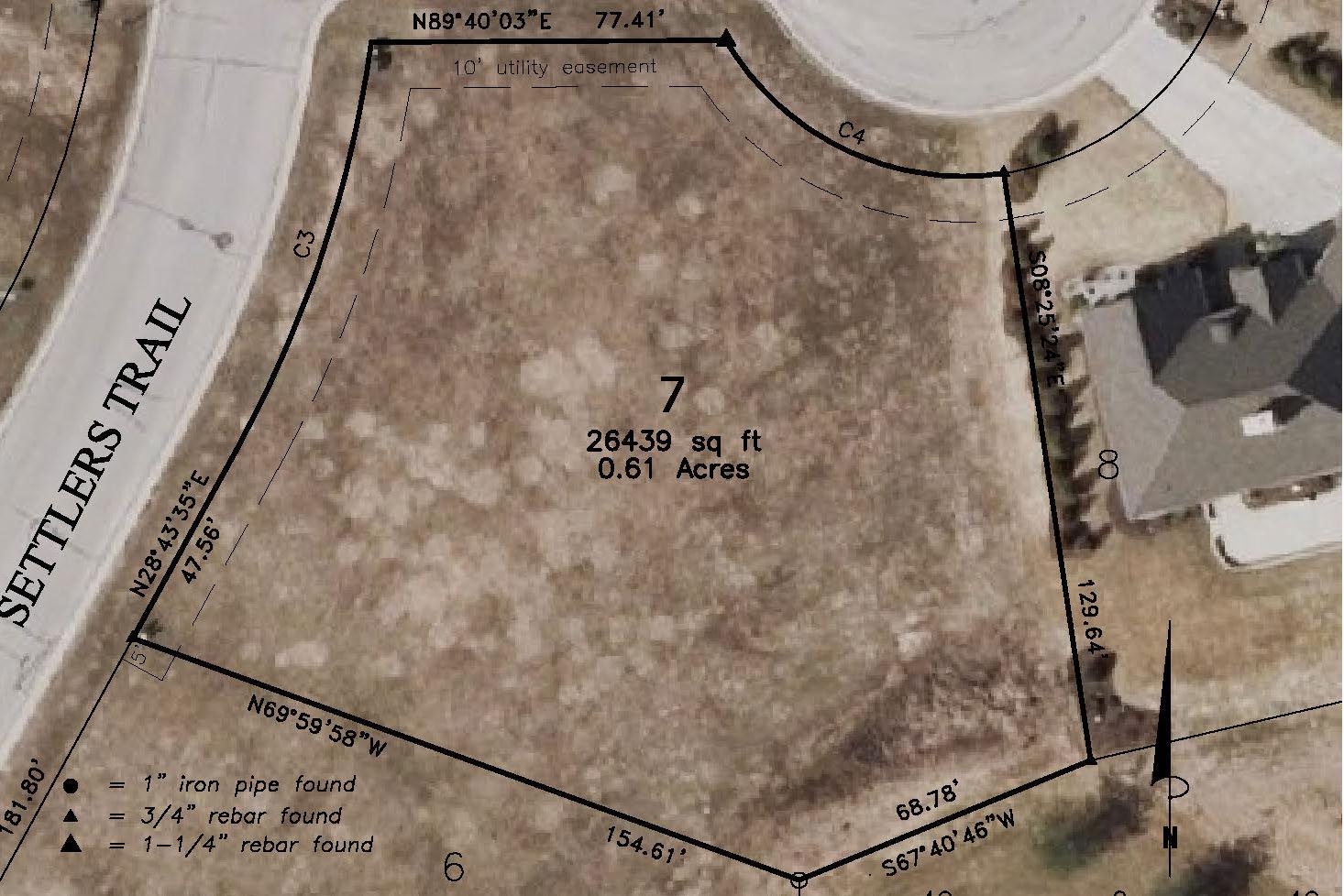 Lot 7: .61 Acres  – $69,900