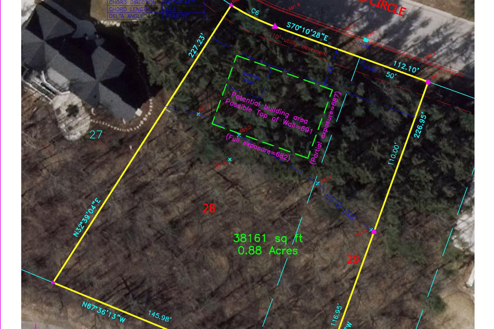 Lot 28: .88 Acres  – SOLD