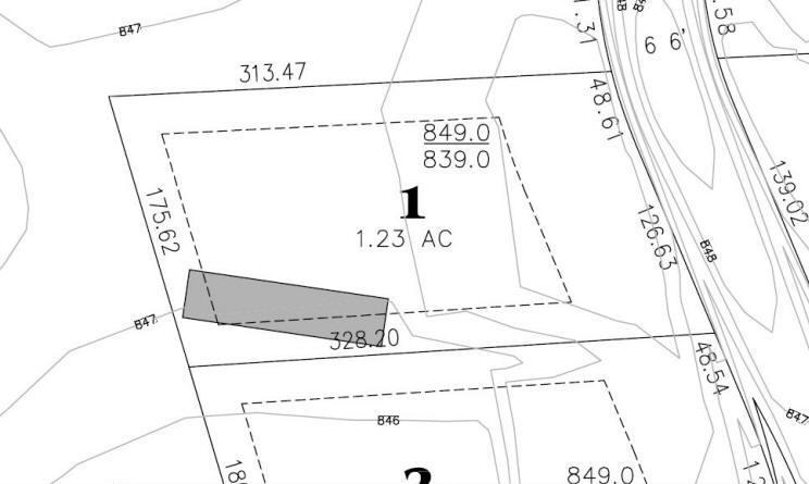 Lot 1: 1.23 Acres  – $139,900
