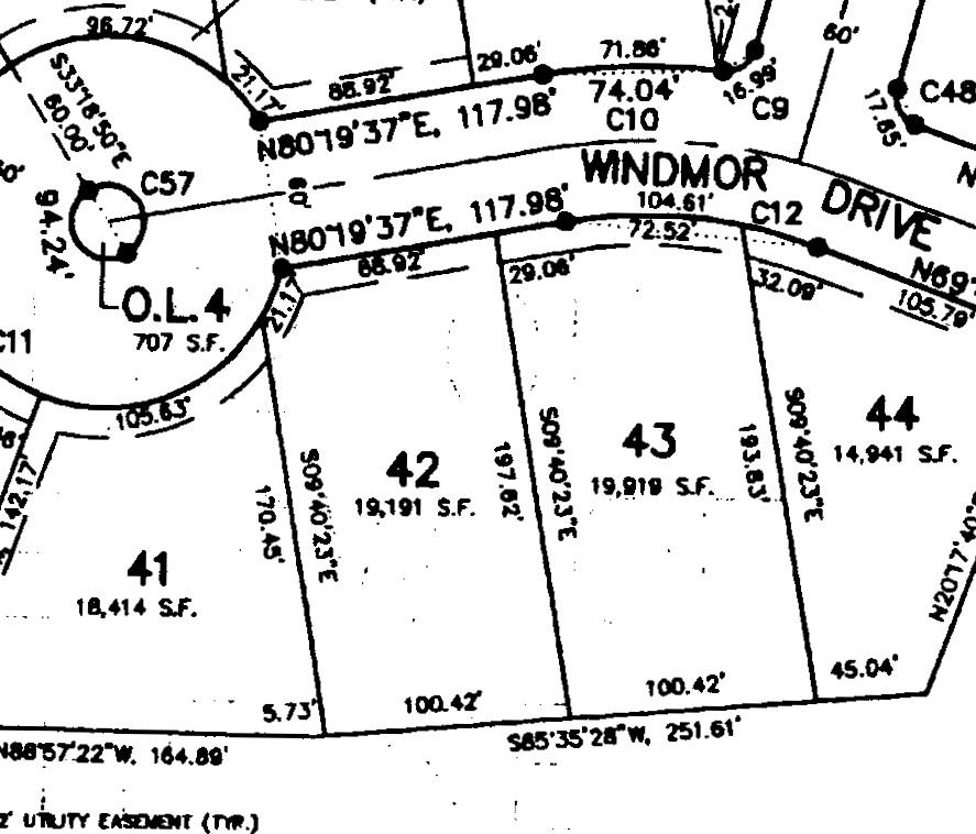 Lot 42: .44 Acres  – $74,900