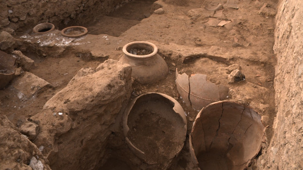 Ancient pottery discovered at Mes Aynak.