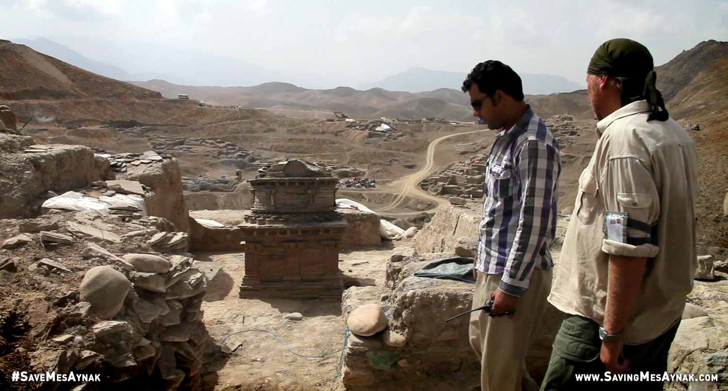 Archaeologists at Mes Aynak