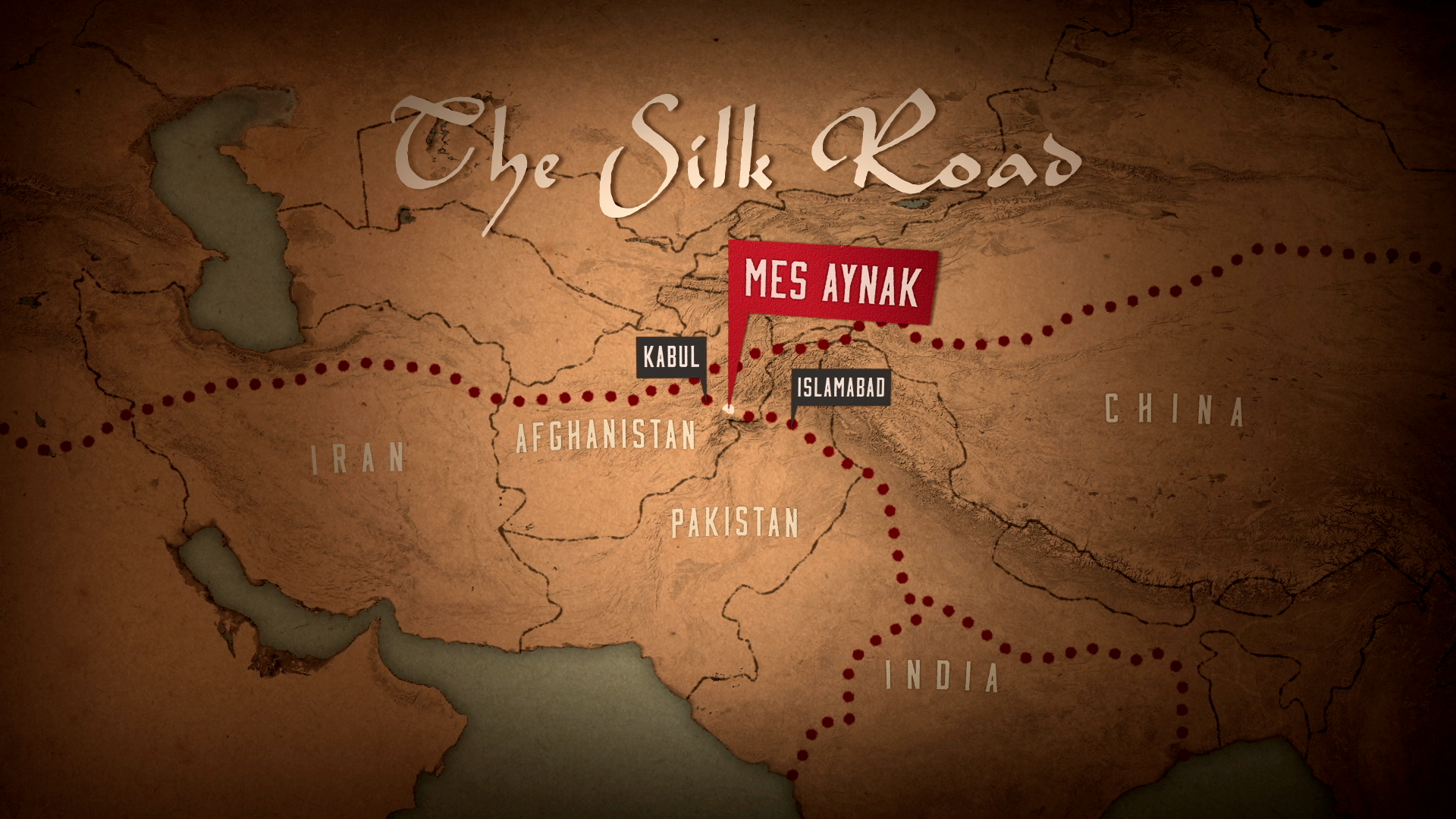 Mes Aynak was once located at the heart of the ancient Silk Road, an interconnected series of trade and migration routes that connected together the then-known world.