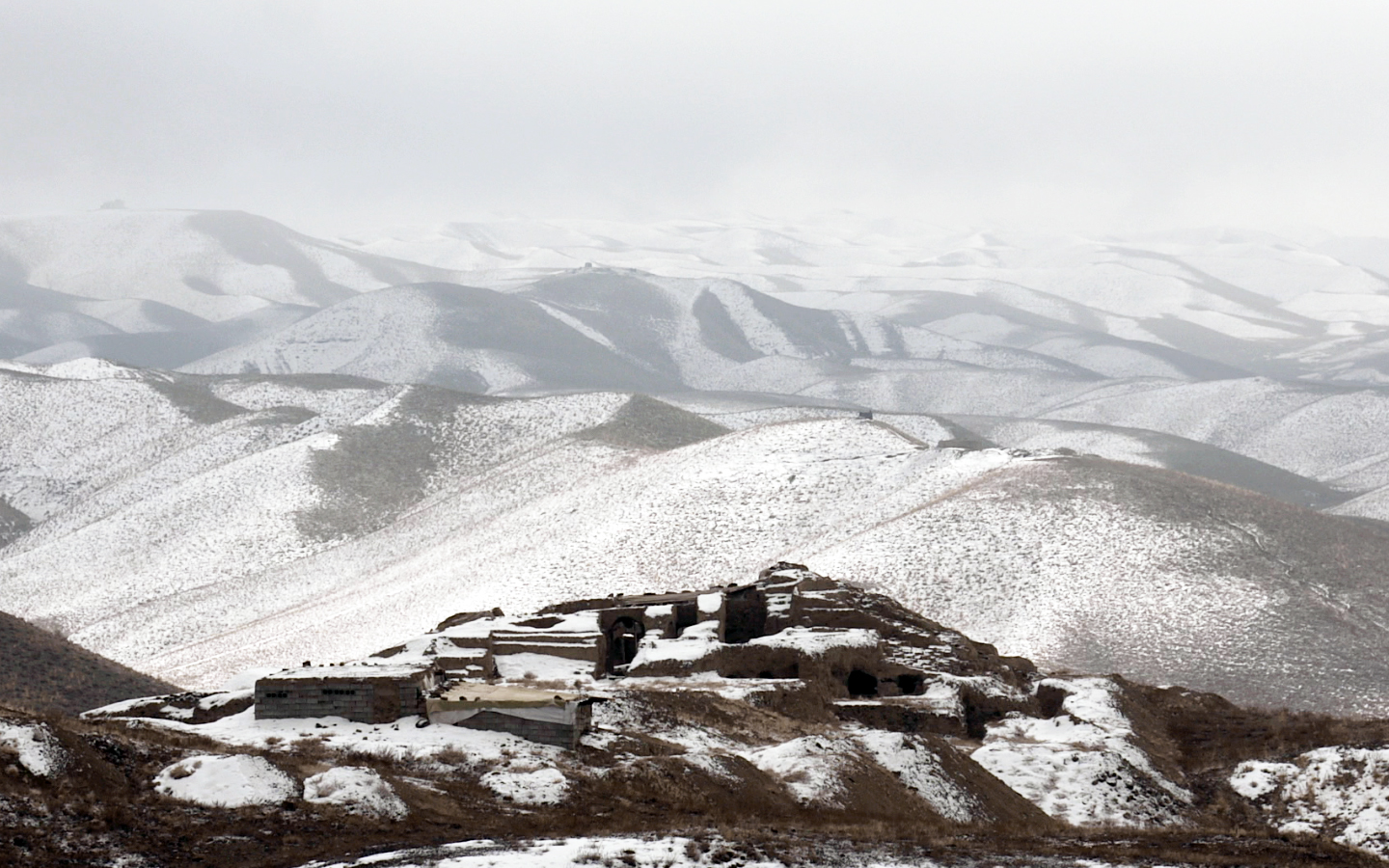 Mes Aynak, in the winter.