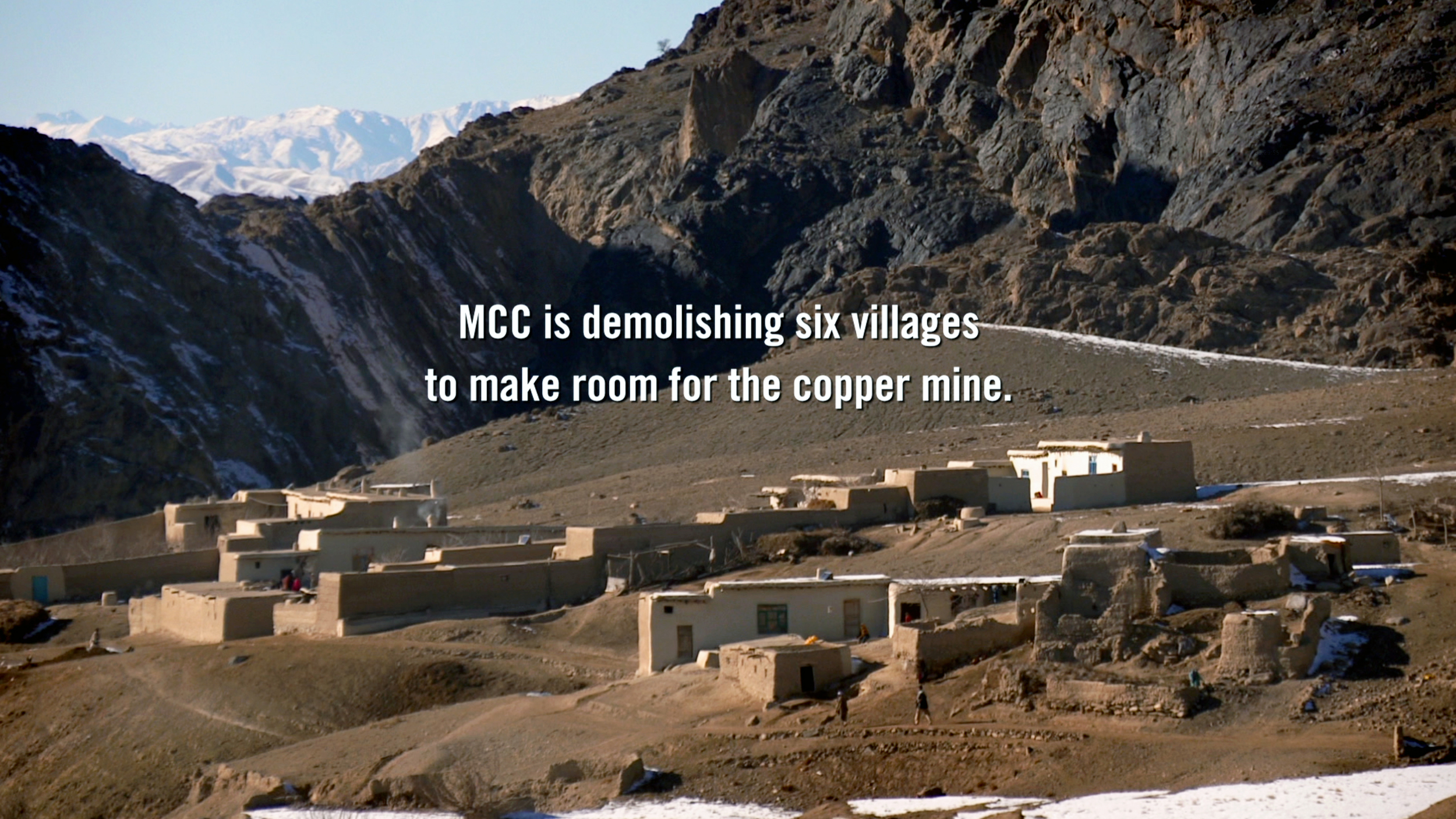 The human cost of destroying Mes Aynak to mine for the copper.