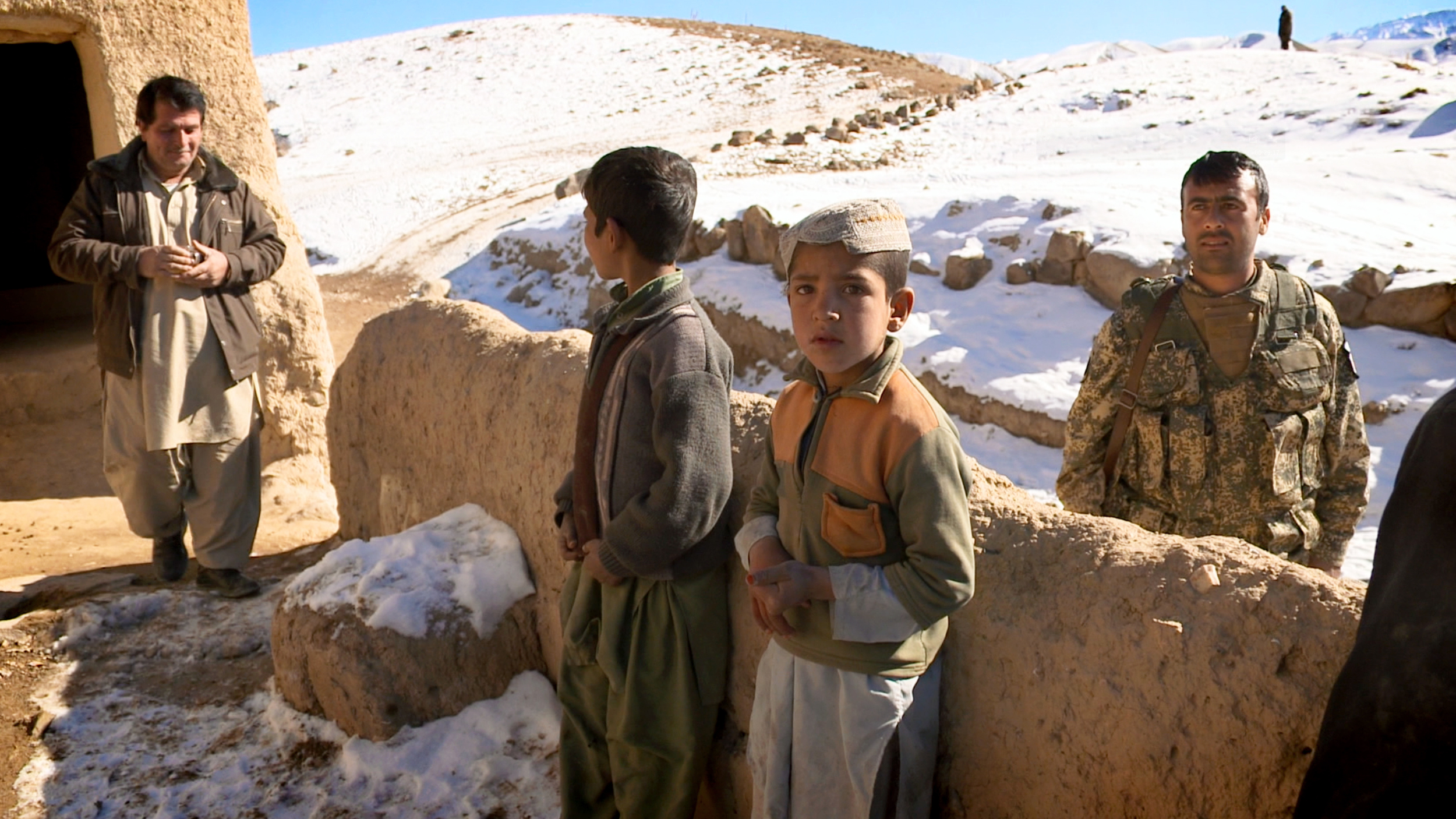 Some of the Afghan children who will be displaced due to the mining operation.