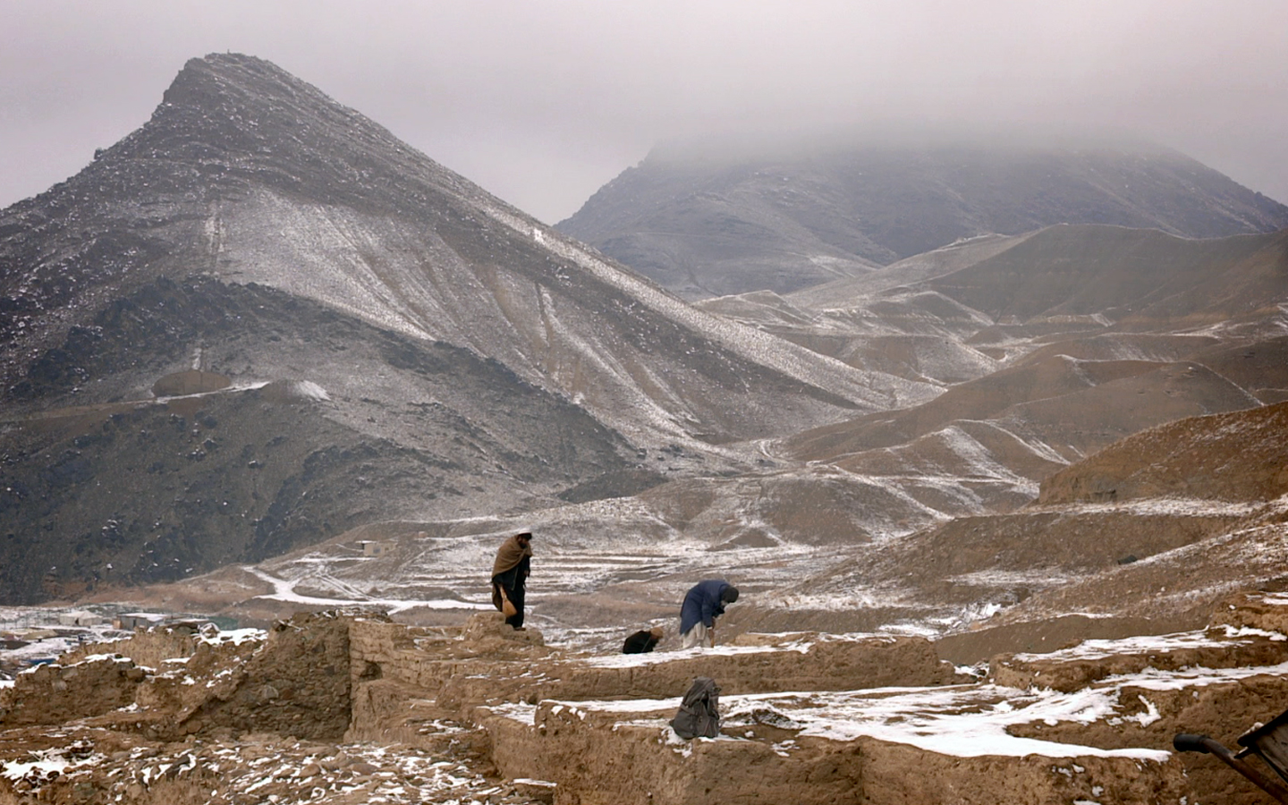 A beautiful shot of Mes Aynak and the surrounding countryside. Photo by Brent E. Huffman