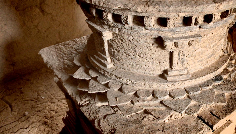 One of the many sacred stupas found at Mes Aynak.
