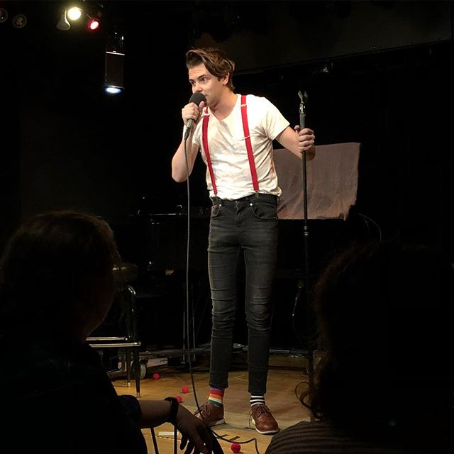 "THANK YOU to everyone who came out to ""The Circus is Cancelled"" last night! Thank you to @rebeccaamarie13 For the photo (although I think I look like a hipster version of the villain from Boxtrolls) Thank you to @kbradley232 for dealing with me be a baby all day. Thank you to @marcdavidwright and @douglaspardella for nailing it. Thank you to @kunzaudio and @tyler.e.spicer for making it actually happen. Further cancellations of the circus to be announced pending internal investigation and eye recovery."