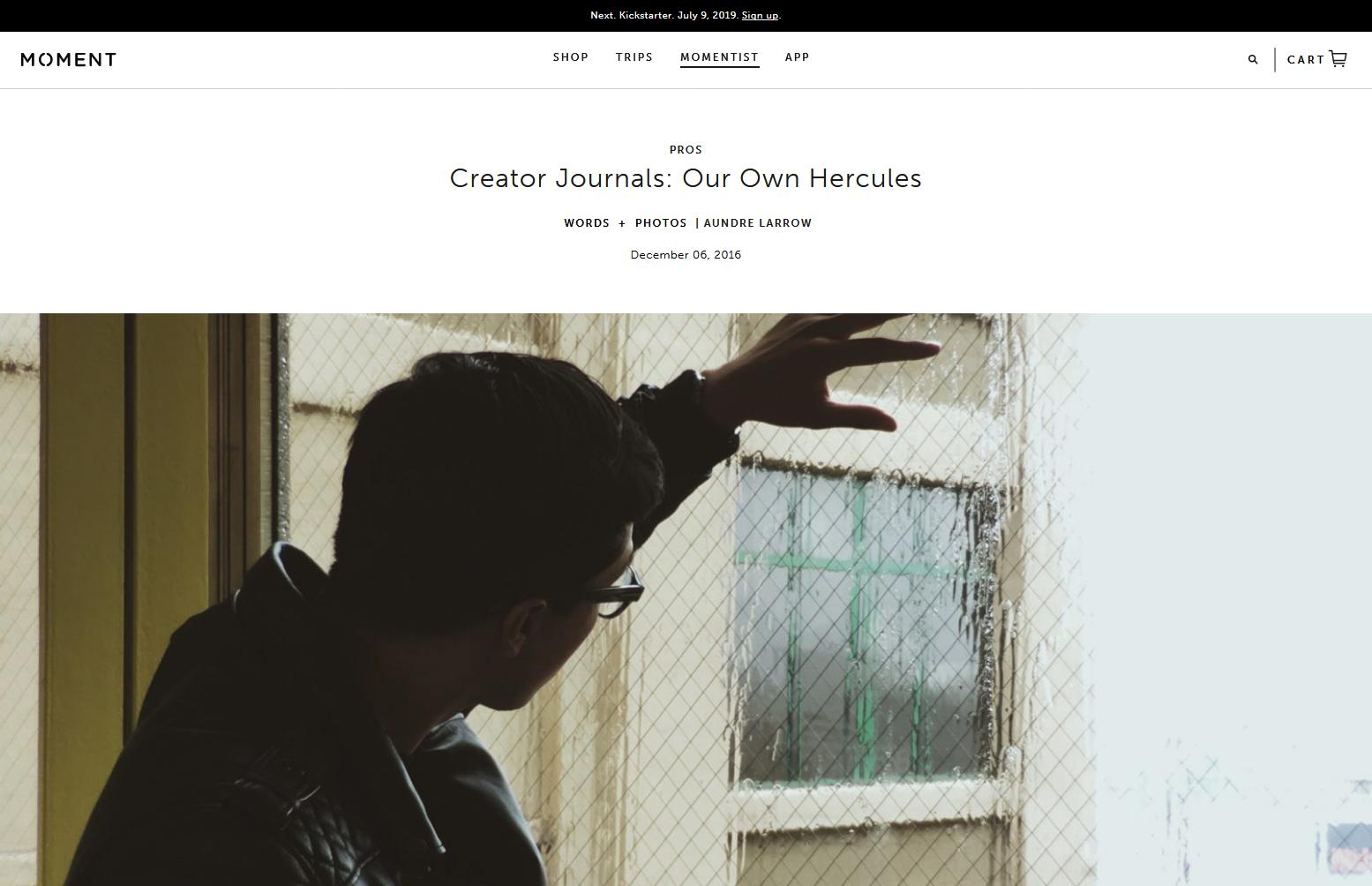 moment: creator journals