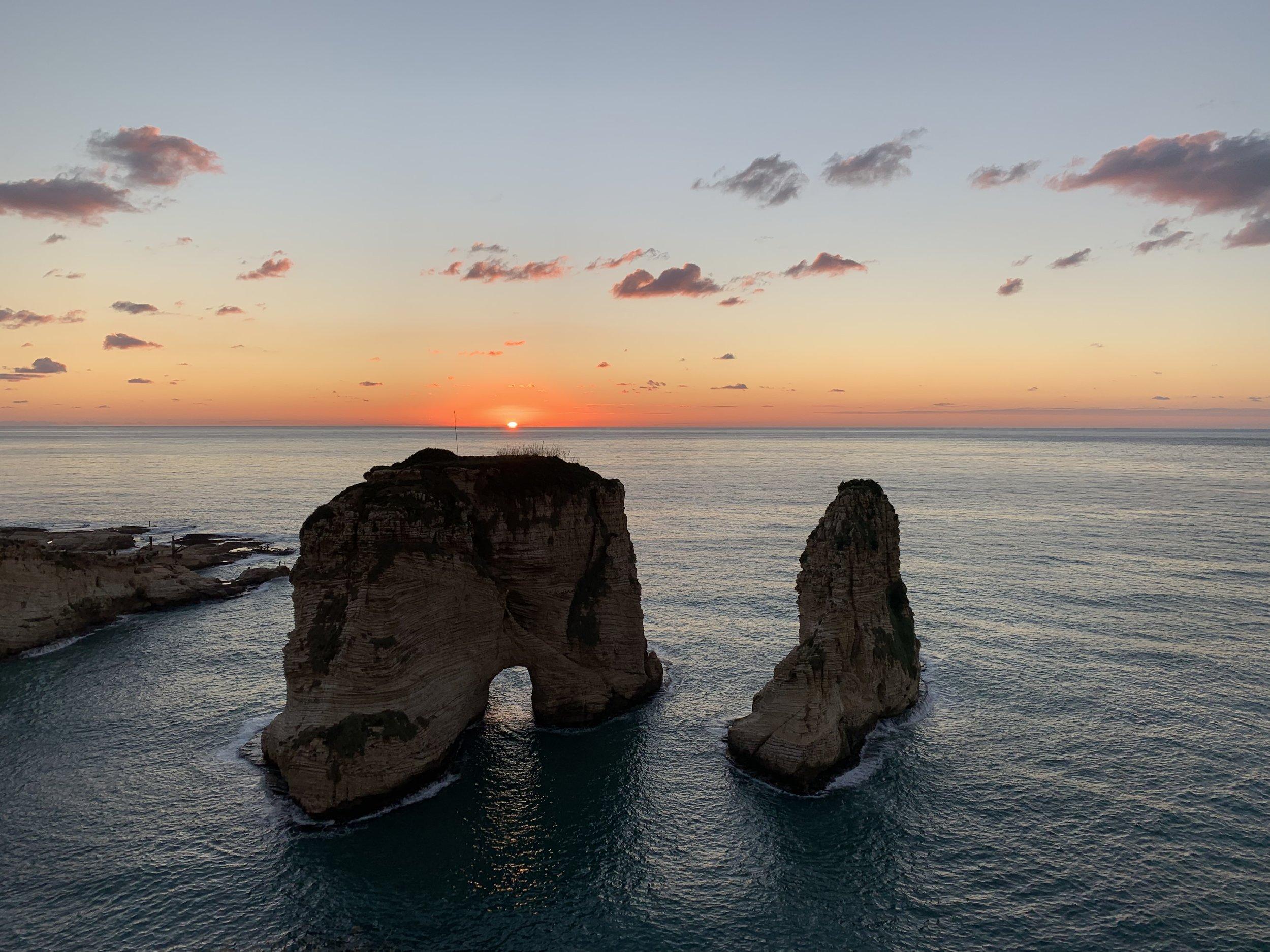 I Faraglioni (Pigeon Rocks) di Beirut