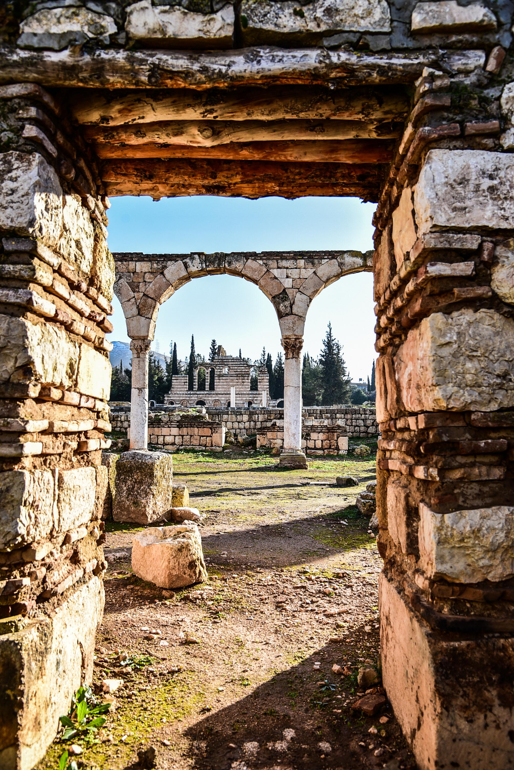 Anjar, sulla strada che collega Damasco in Syria e Beirut: un centro archeologico di notevole importanza.