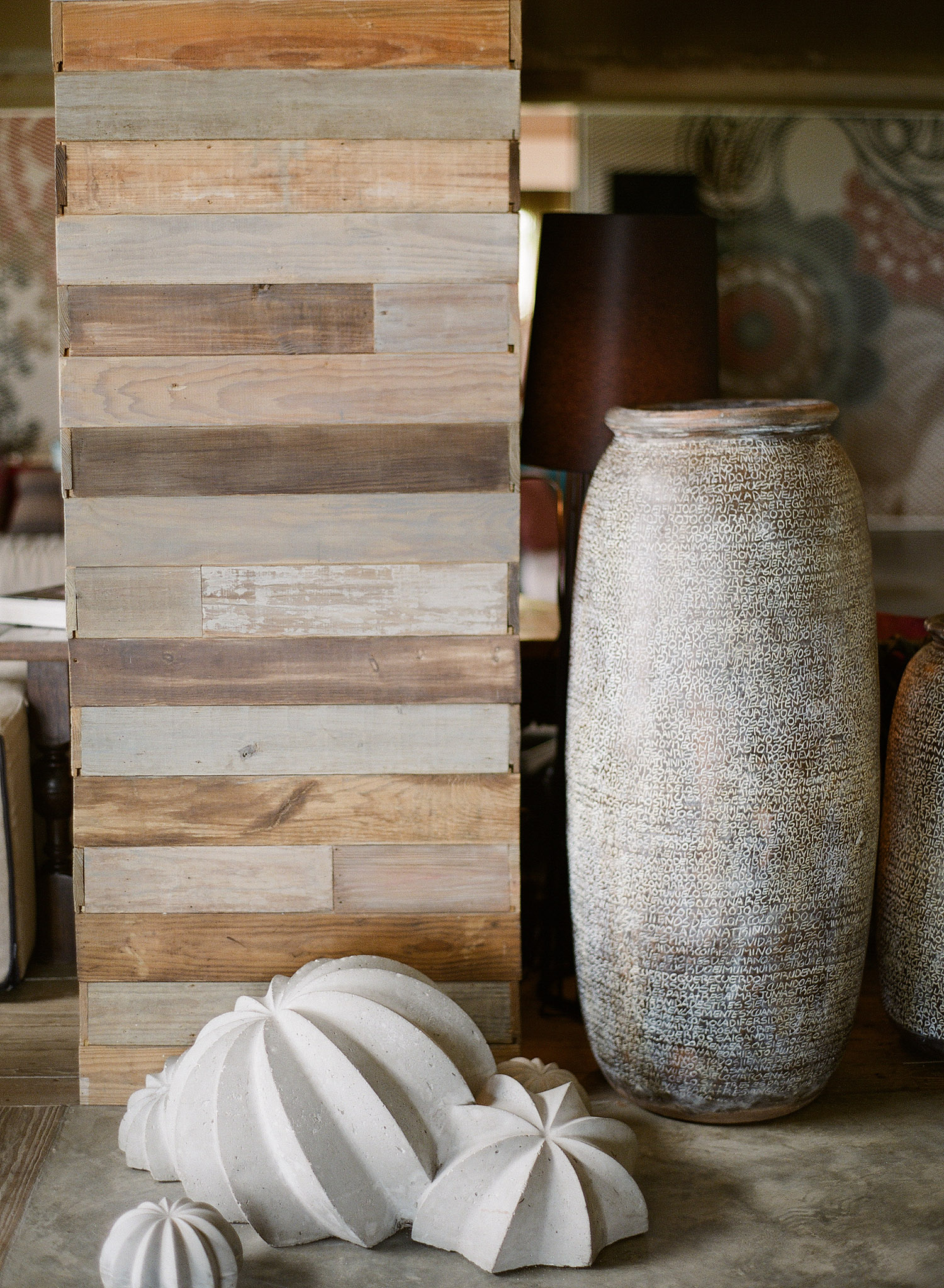 Destination Wedding Photographer Lexia Frank photographs this modern wedding at the W hotel in vieques island wedding- inside the W hotel there are modern cement sculptures and reclaimed wood walls. Lexia is a wedding film photographer focusing on destination weddings worldwide