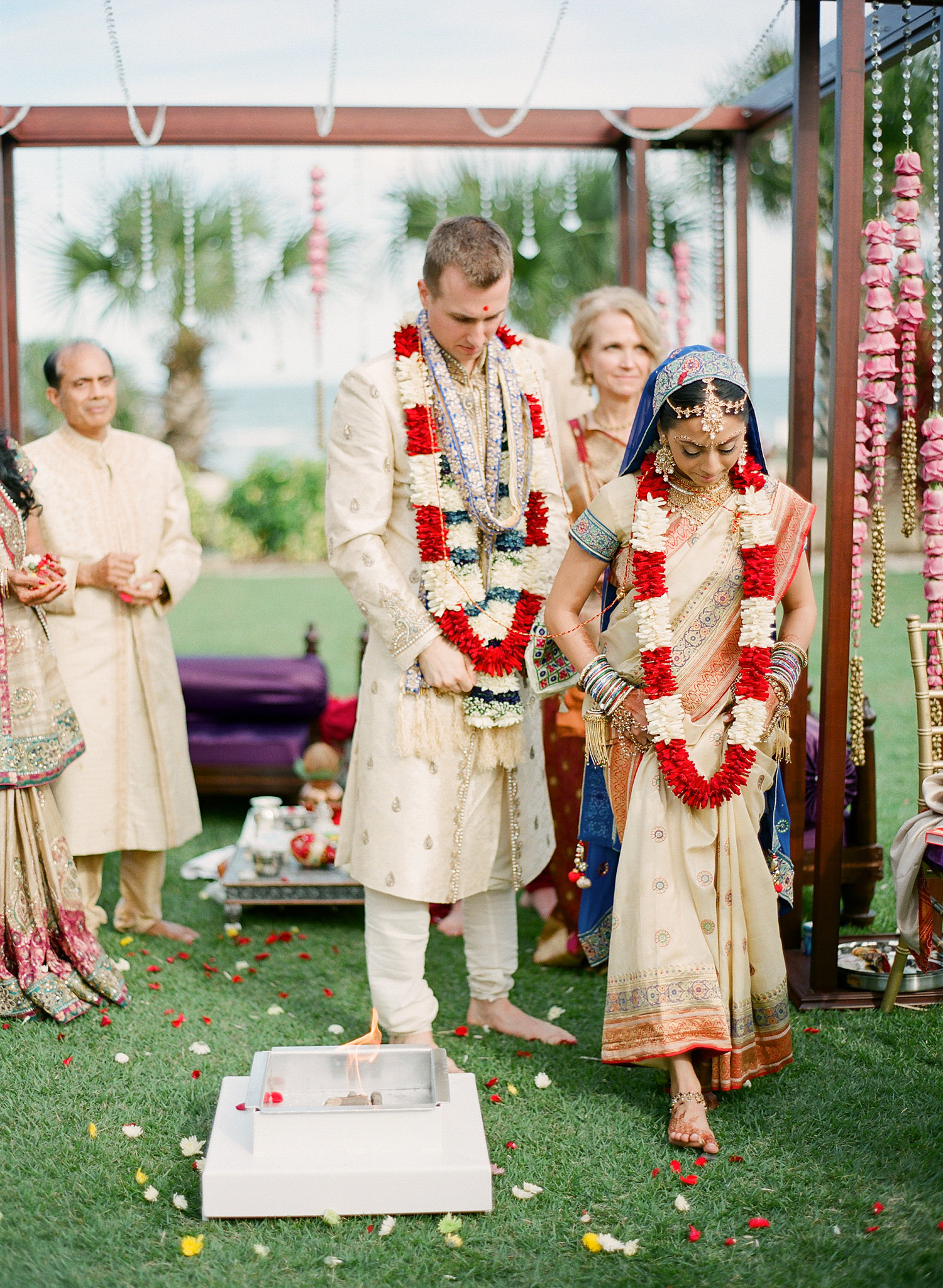 Indian Wedding in Florida photographed by Destination Wedding Photographer, LExia Frank - a top indian wedding photographer - who shoots film for luxury indian weddings preferring the soft skin tones and vibrant colors for indian weddings in india and worldwide