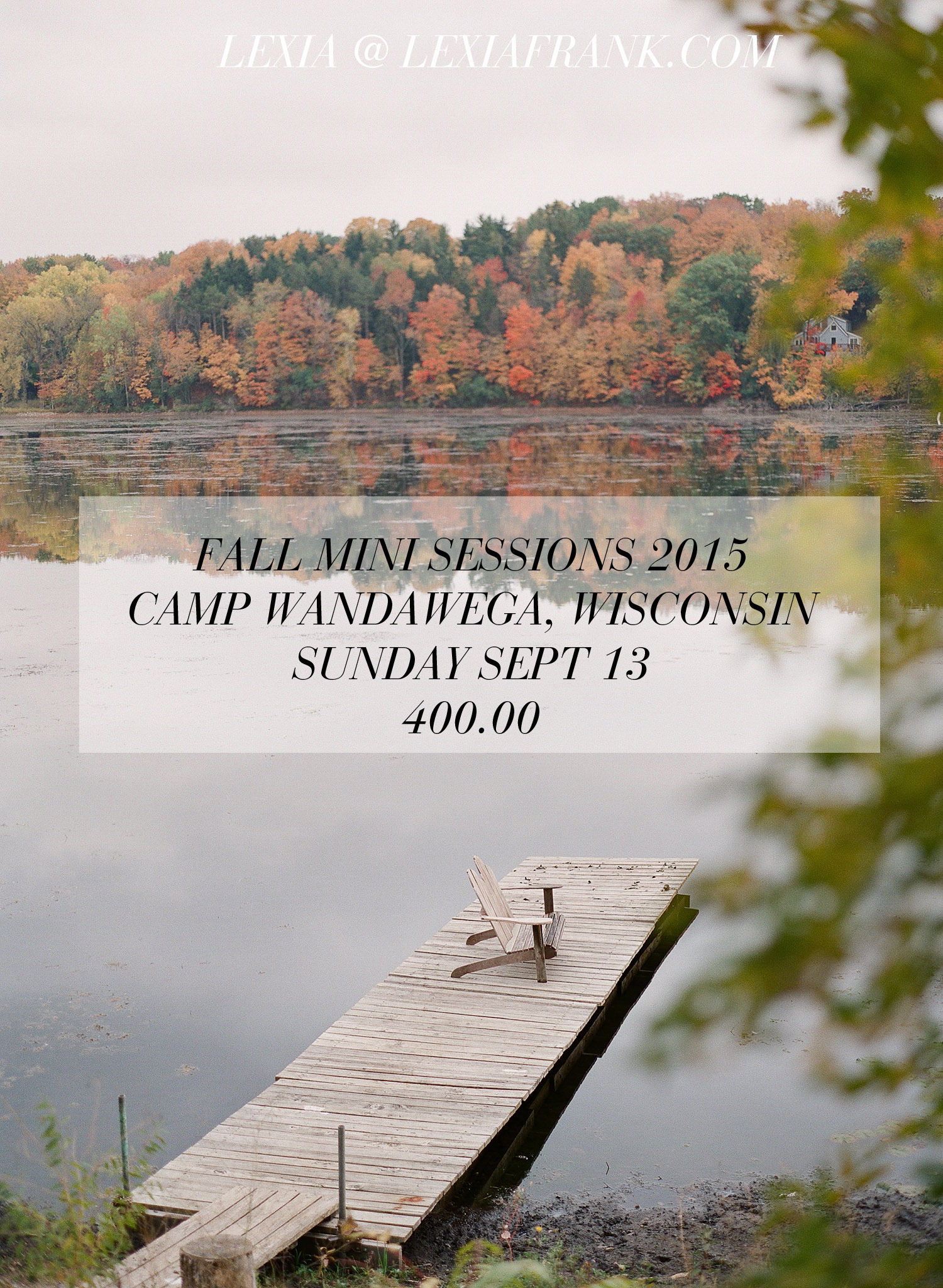 Wisconsin Mini Sessions 2015, Camp Wandawega with Lexia Frank Photography