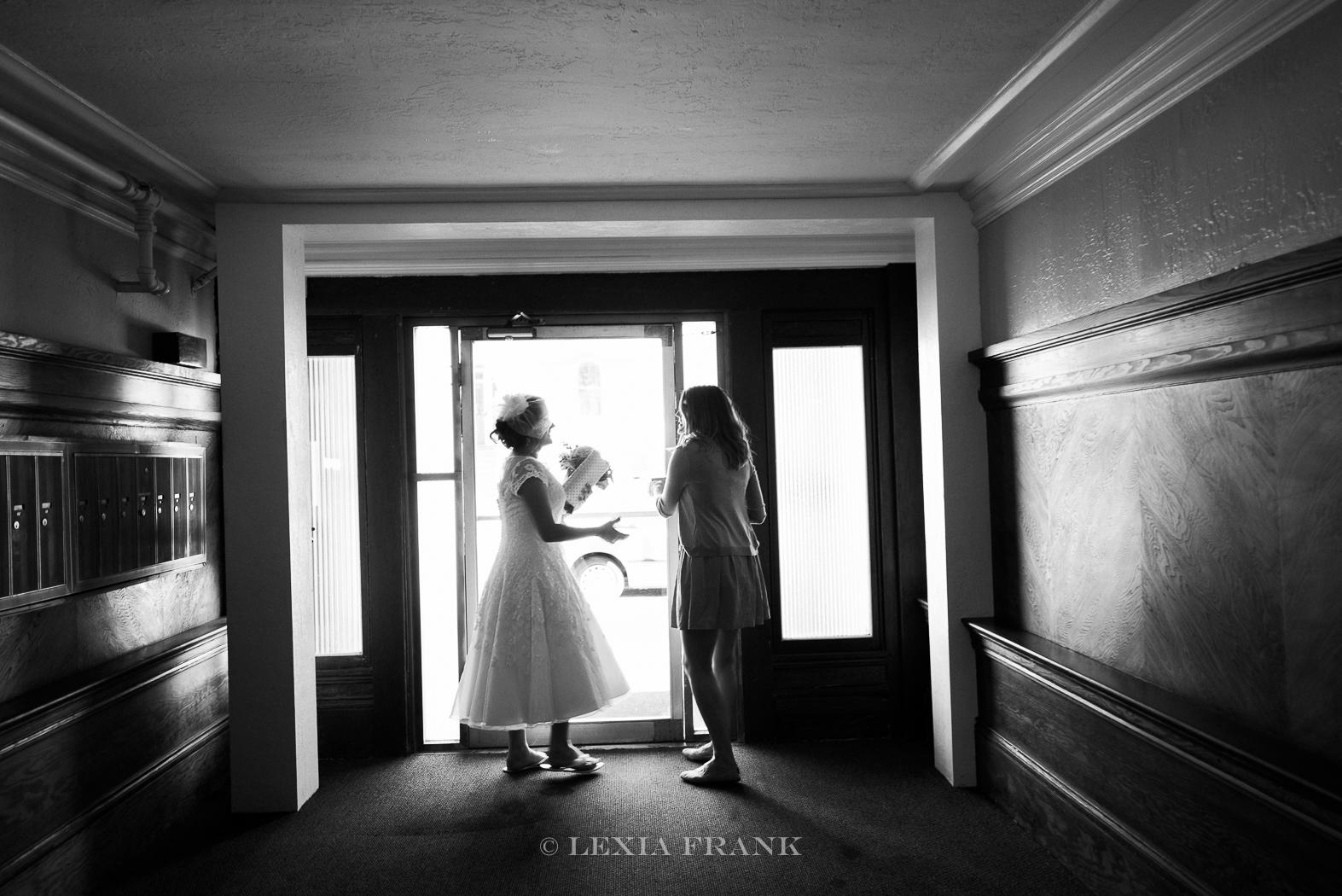 Destination Wedding Photographer Lexia Frank - a portland fine art film photographer - documents this San Francisco City Hall wedding in san francisco as bride heads to the courthouse. www.lexiafrank.com
