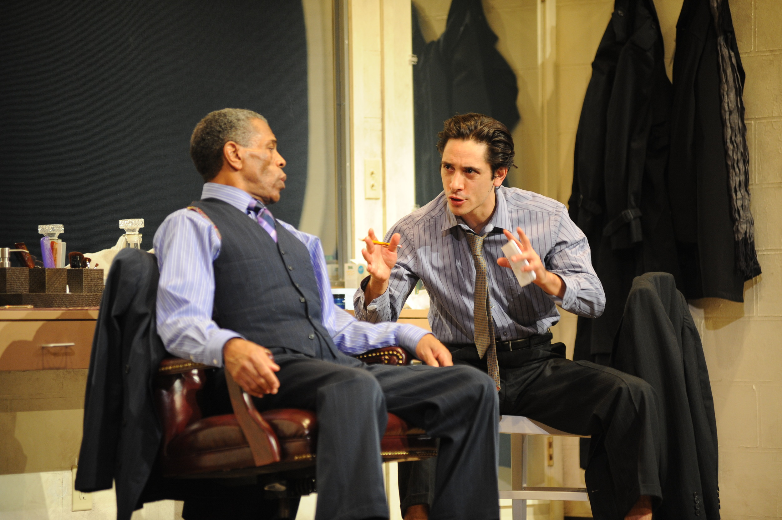 """with Andre DeShields in Mamet's """"A Life in the Theater"""" directed by Robert Ohara at The Alliance Theater in Atlanta"""