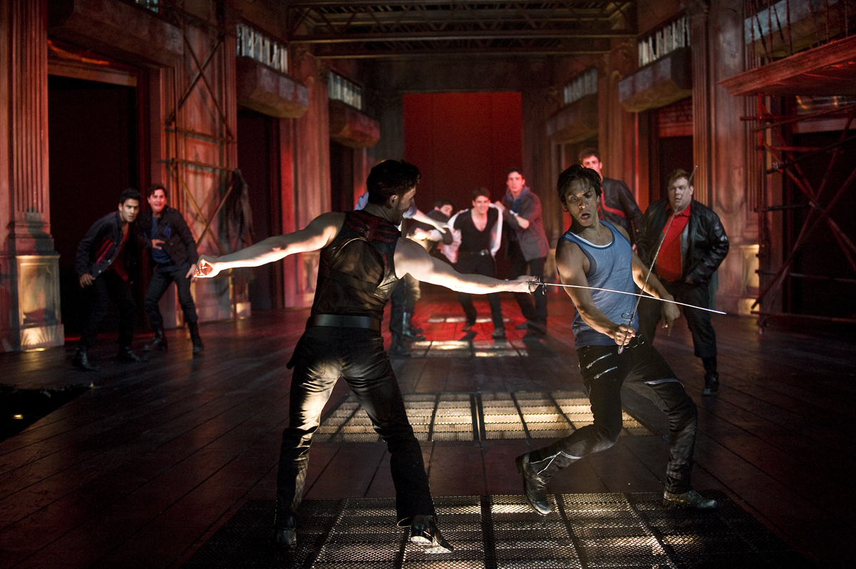 """As Mercutio battling Tybalt in """"Romeo & Juliet"""" at The Shakespeare Theater in Chicago"""