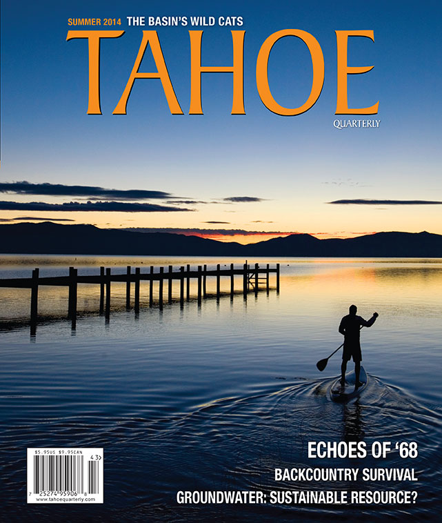 Fury over Fourth of July fireworks—  A Lake Tahoe couple alleges the pyrotechnics violate Clean Water Act  / Tahoe Quarterly / August, 2014