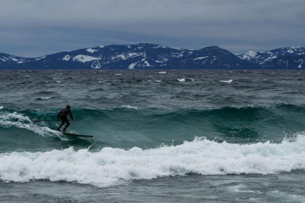 Don't hang up the paddle:  Summer isn't the only season to paddle on Lake Tahoe /  Tahoe Magazine / December, 2014