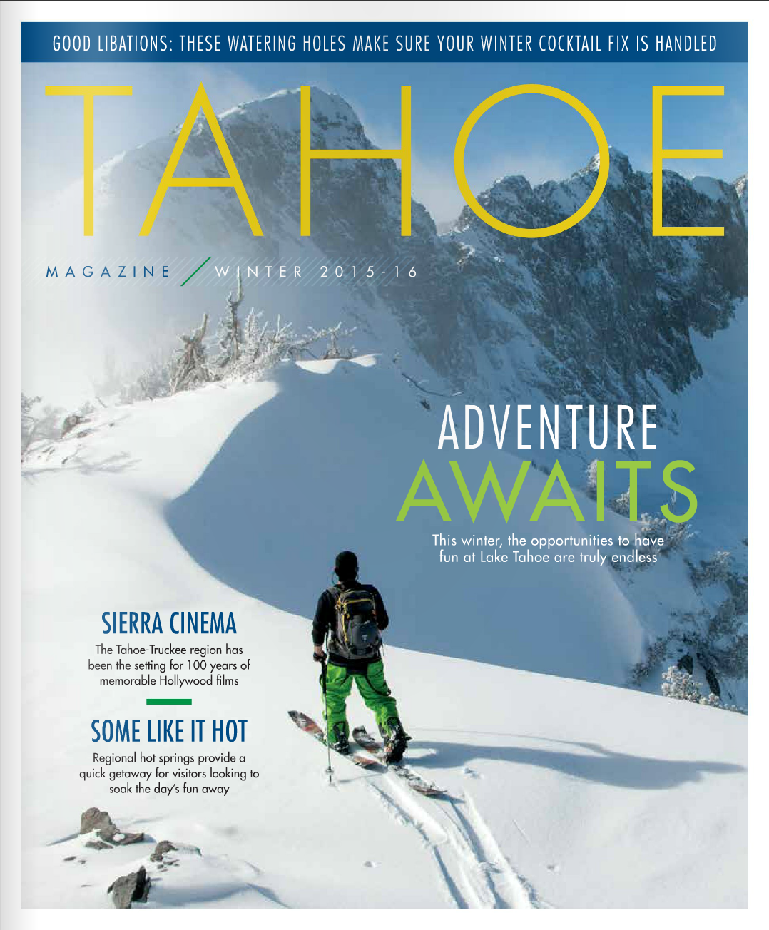 Cover Photo / Tahoe Magazine / December 2015