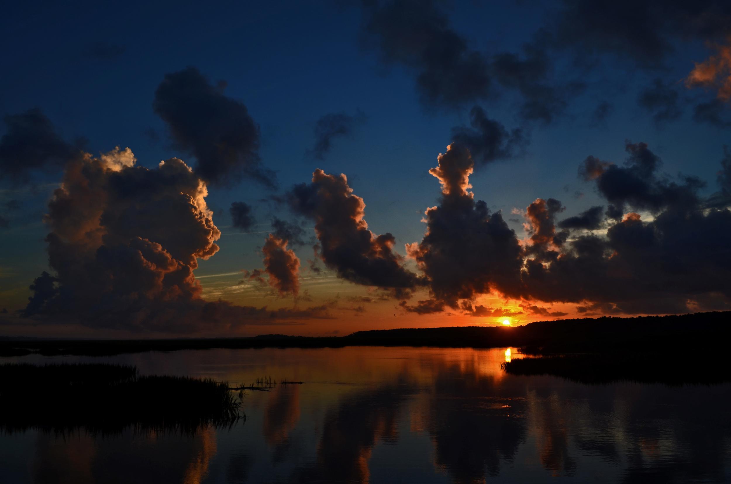 Sunrise at Huntingdon Beach State Park, South Carolina