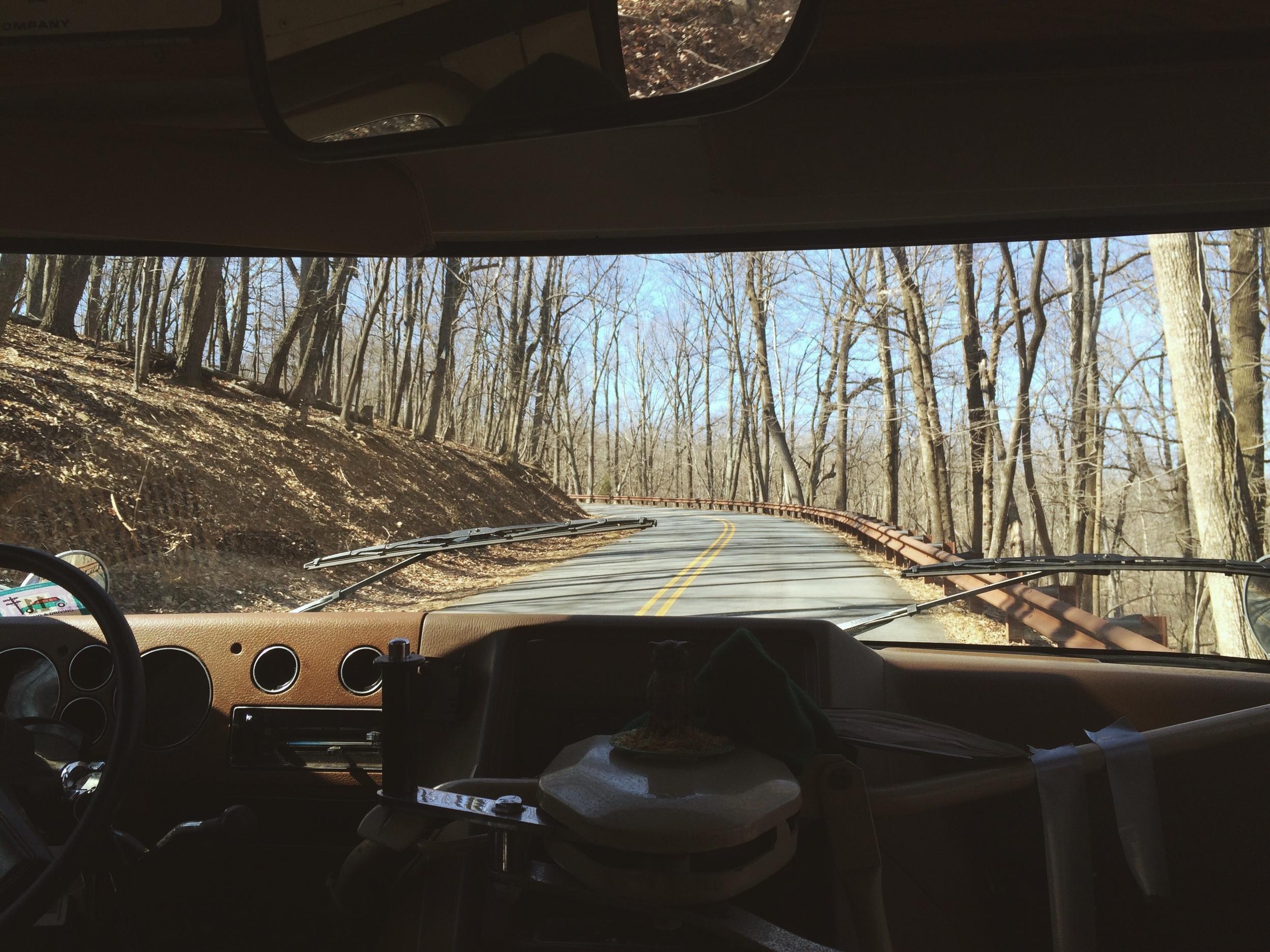 2.27.16 - A pretty high-up road. - Pilot Mountain, North Carolina