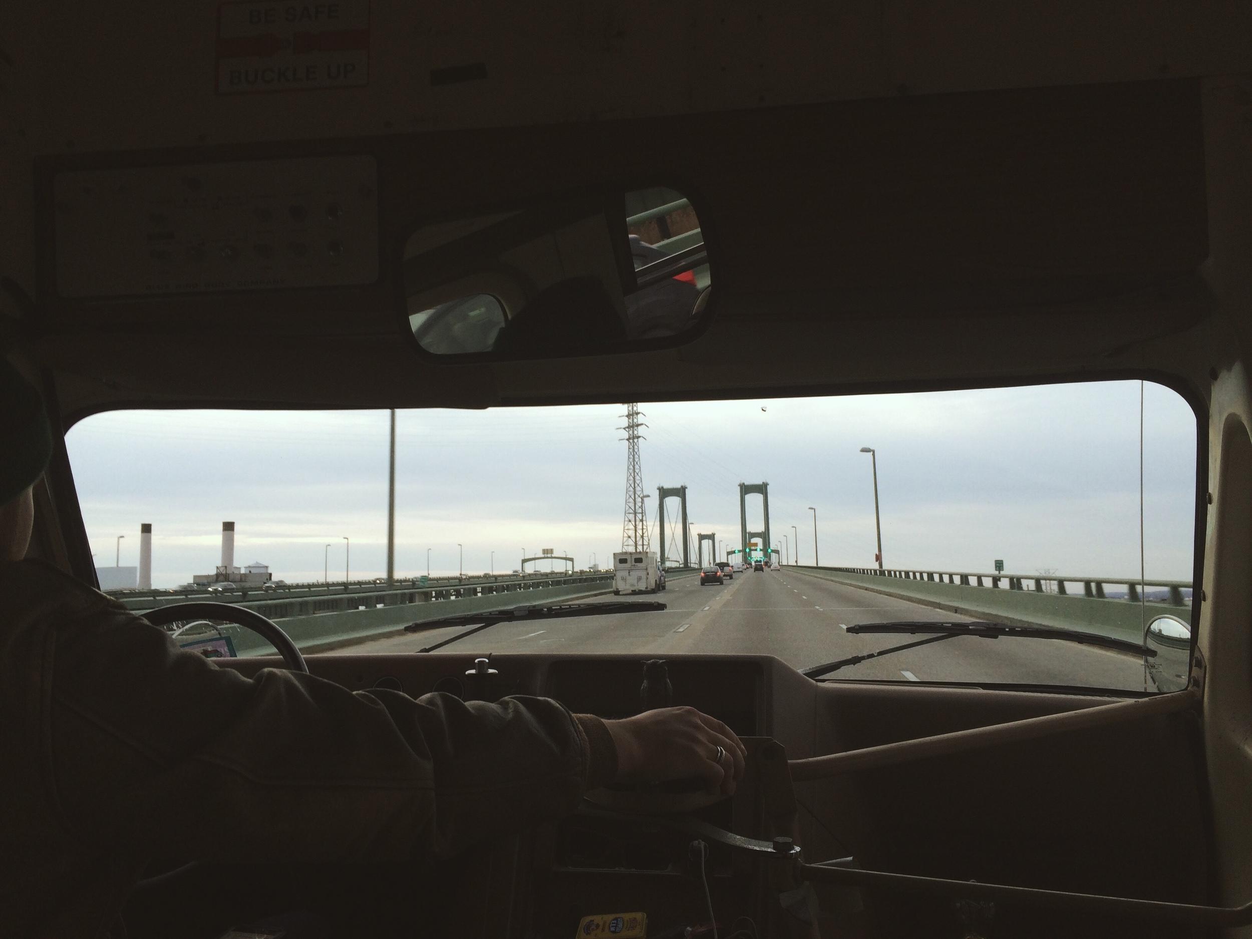 2.19.16 - Bluebird on a Bridge - En route to Baltimore.