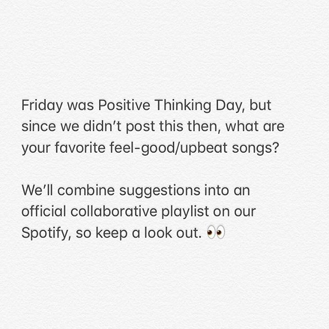 Drop a feel-good song below ⤵️