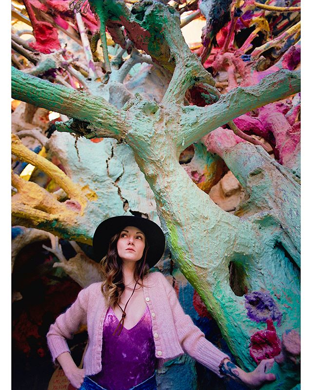 Salvation Mountain.  Photo: #PhaseOne645AF 3D Gif: #nishikan8000  both on #portra400
