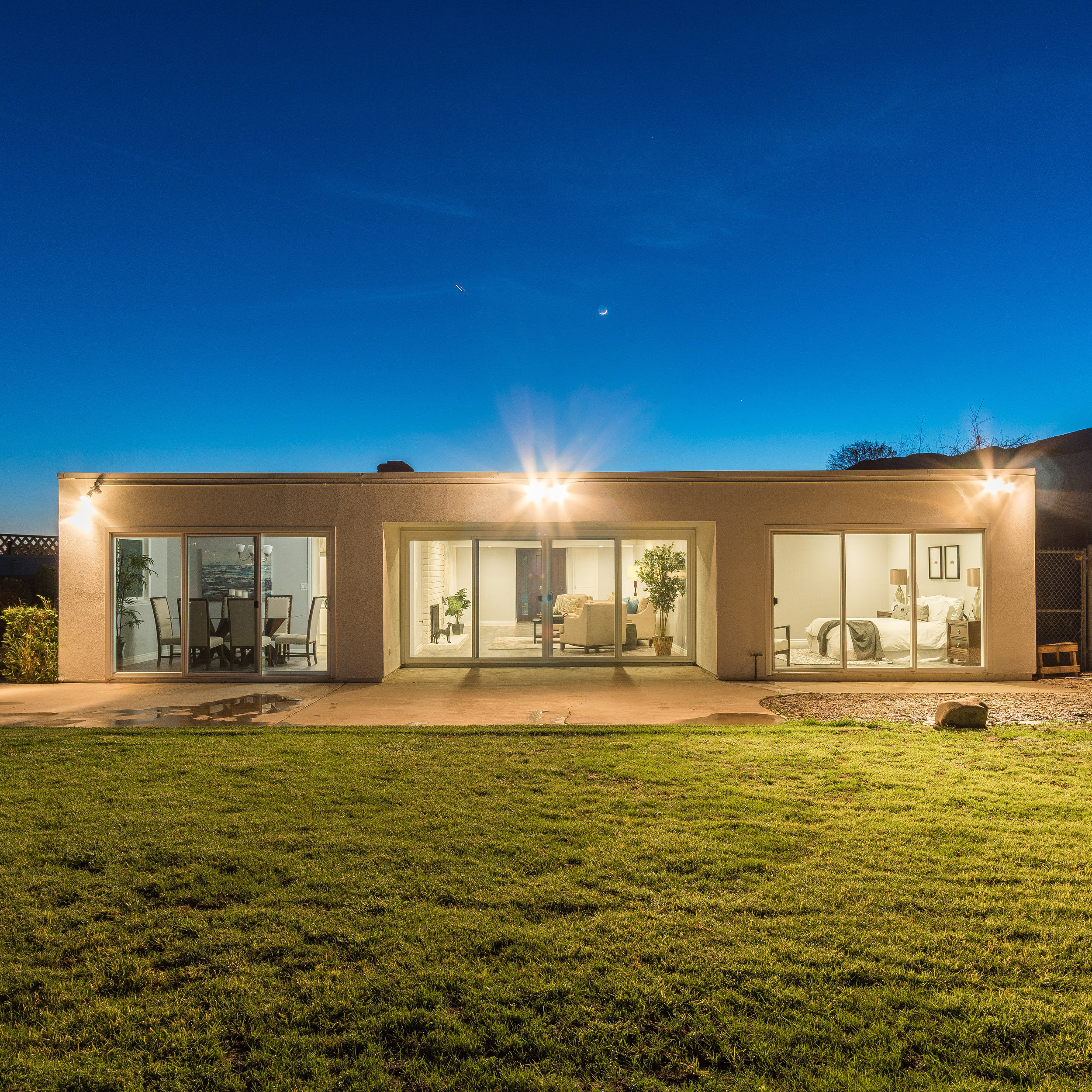 Delivered twilight photo of the rear exterior ©Ryan Carr - Legacy Listing Photography - 2017