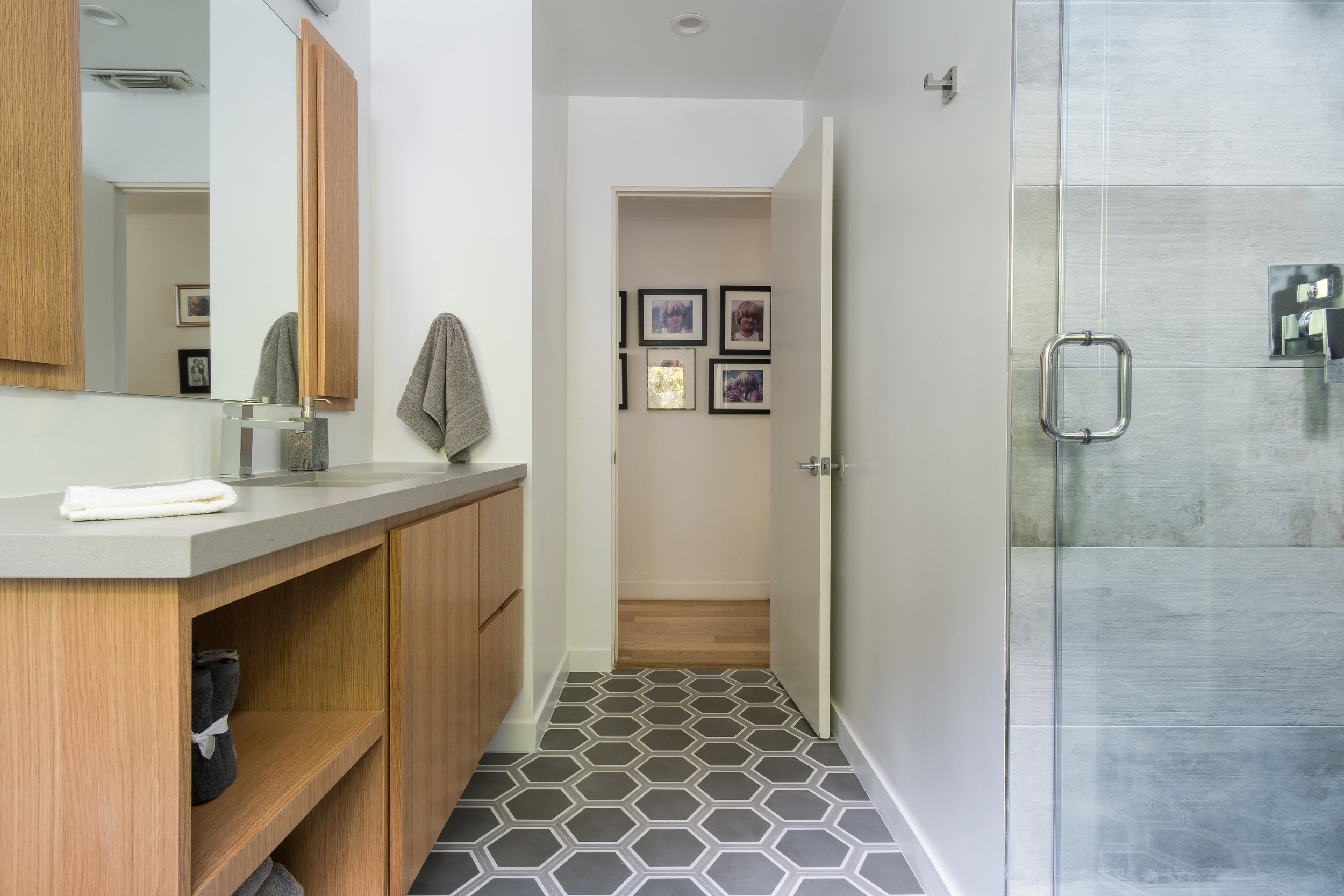 Delivered photo of the bathroom remodel ©Ryan Carr - Legacy Listing Photography - 2017