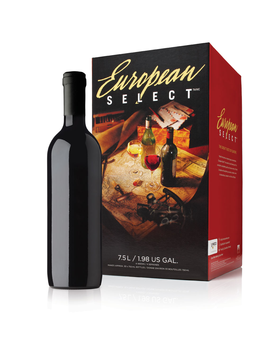 - Proud old world heritage goes into every European Select wine kit. Representing the traditions and experience cultivated over 100 years of wine making. European Select uses premium imported grape concentrates to consistently deliver the quality and bouquet expected of old world wines.