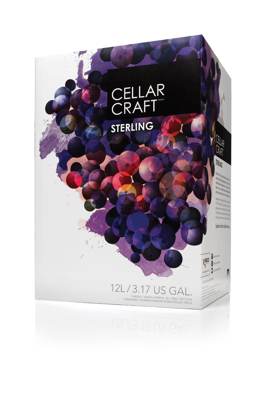 - Experience the radiance of fine wines with Cellar Craft Sterling. With a polished combination of grape juice and concentrates, Sterling finds the shine of popular varietals from across the globe, giving you a premium wine in as little as 5 weeks