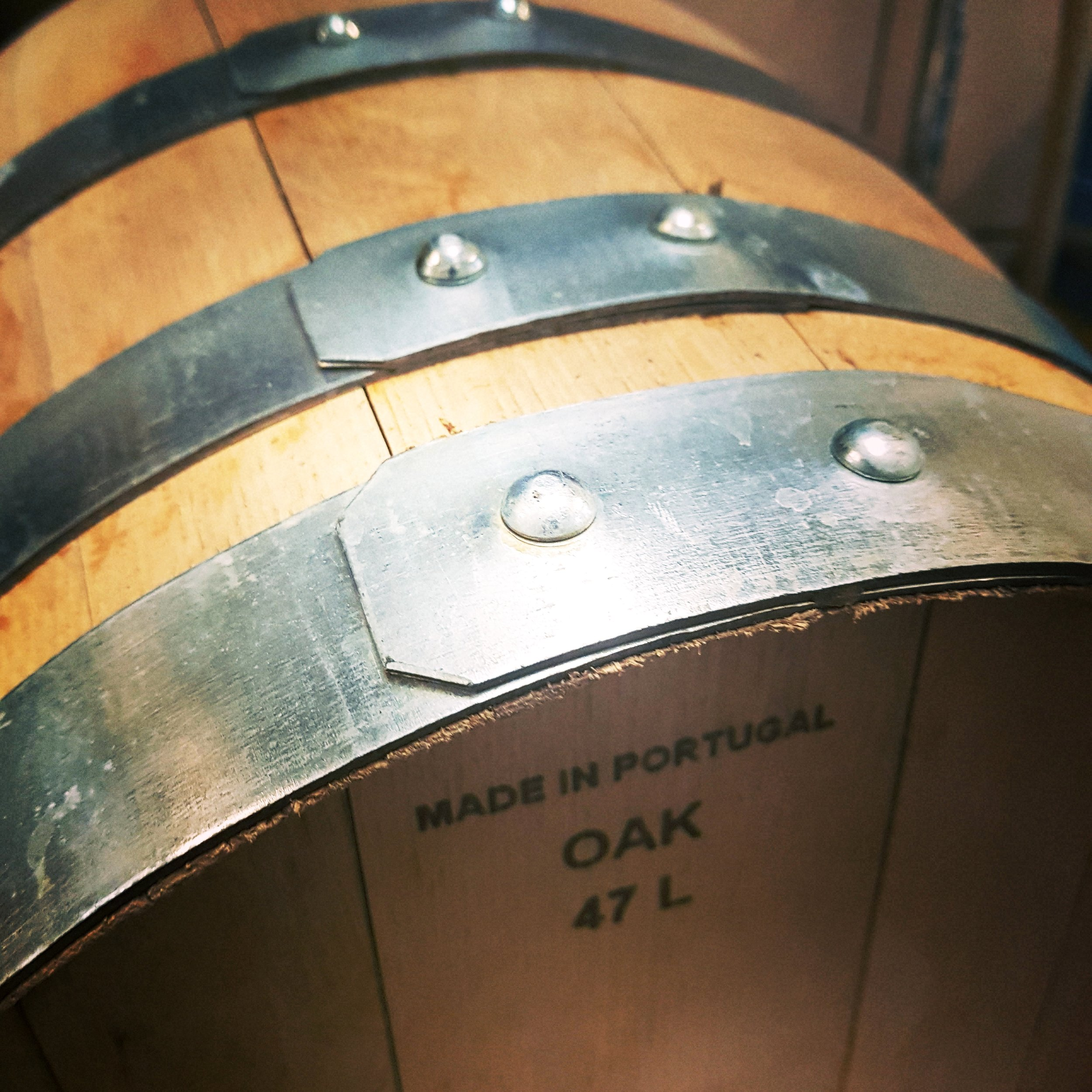 Now offering oak barrel aging