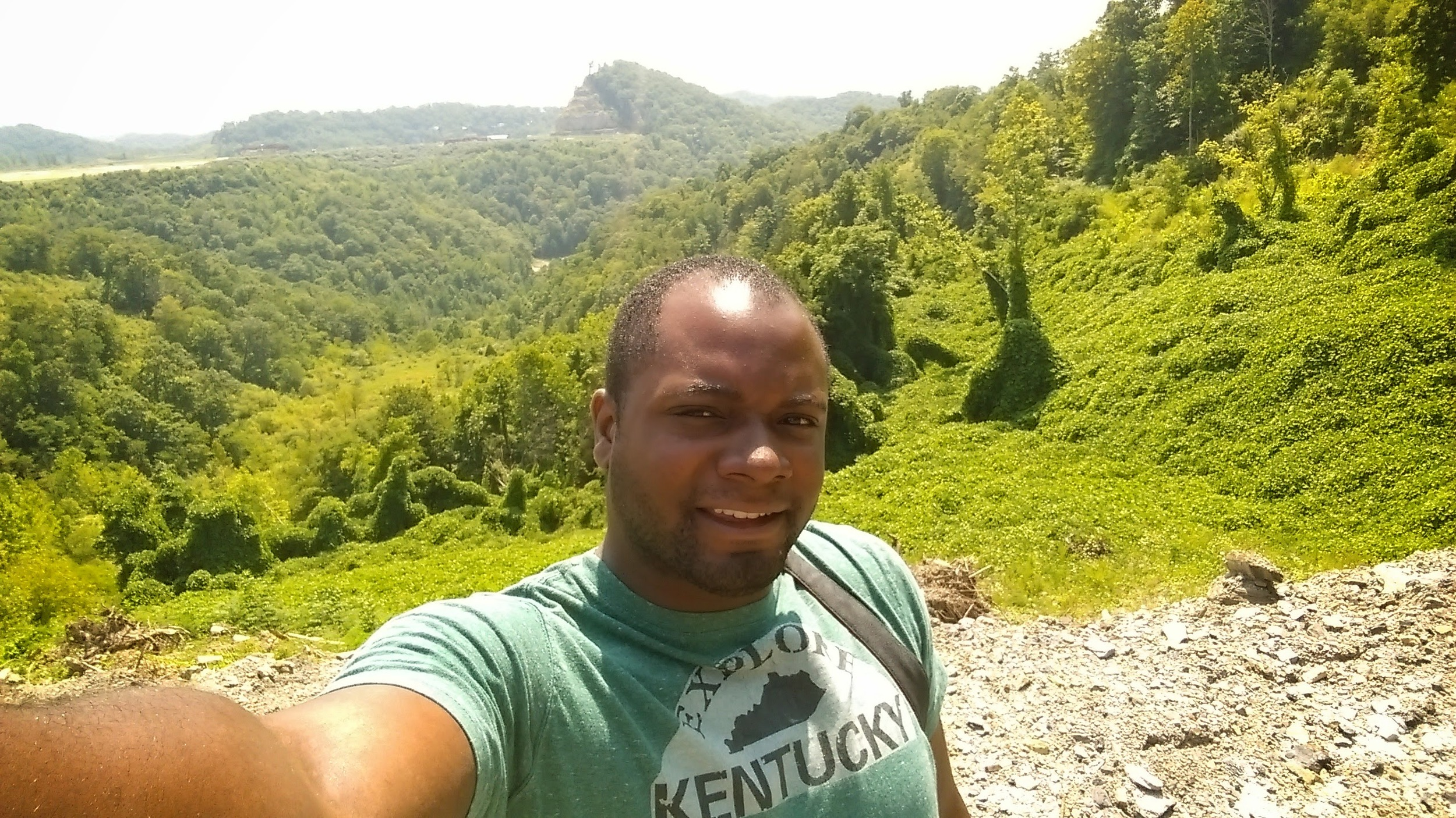 Gerry Seavo James, taking a selfie for the first time in Hazard, KY