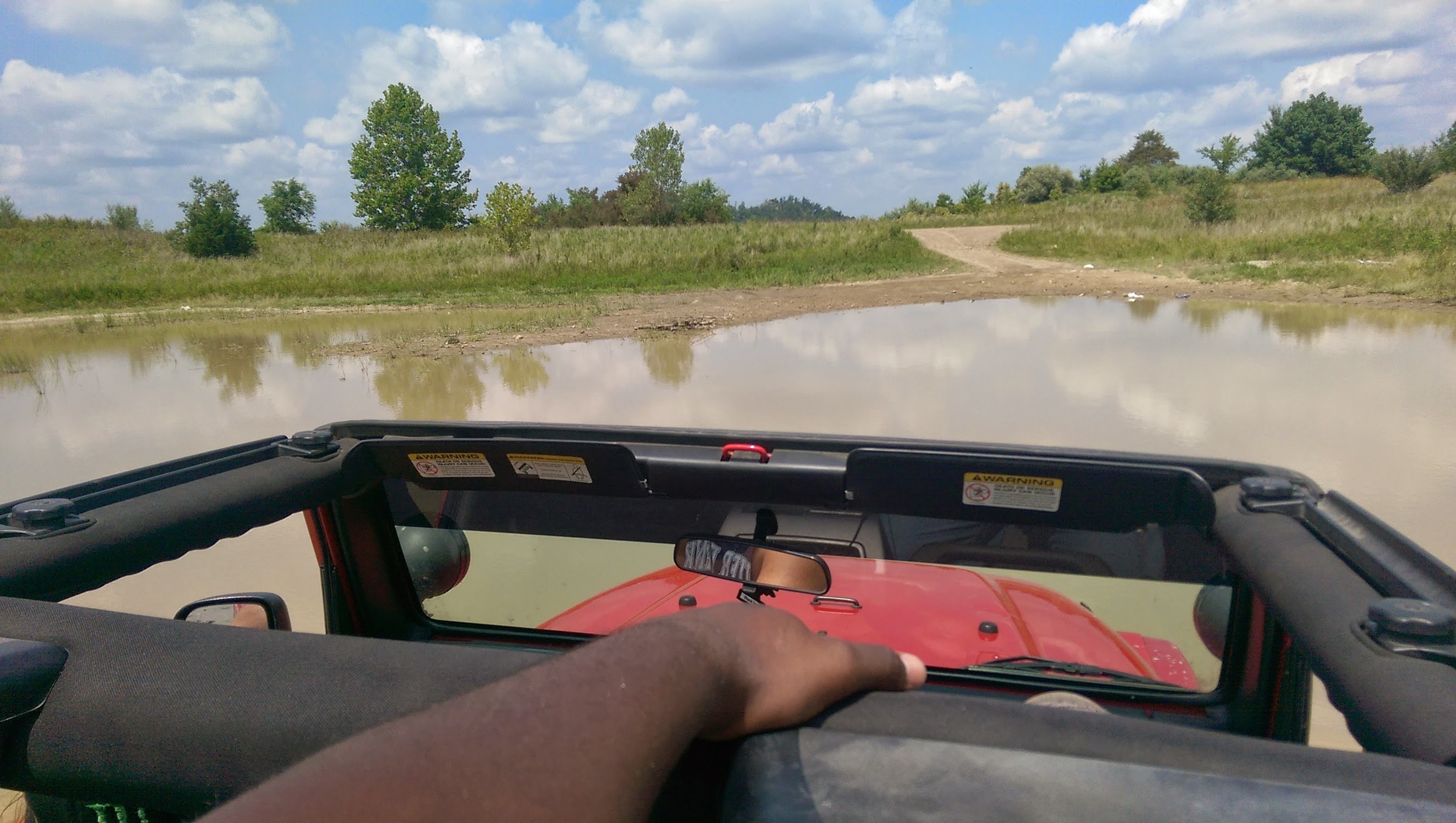 Muddin' on reclaimed mine land in the Big Creek section of Hazard, KY Photo by: Gerry Seavo