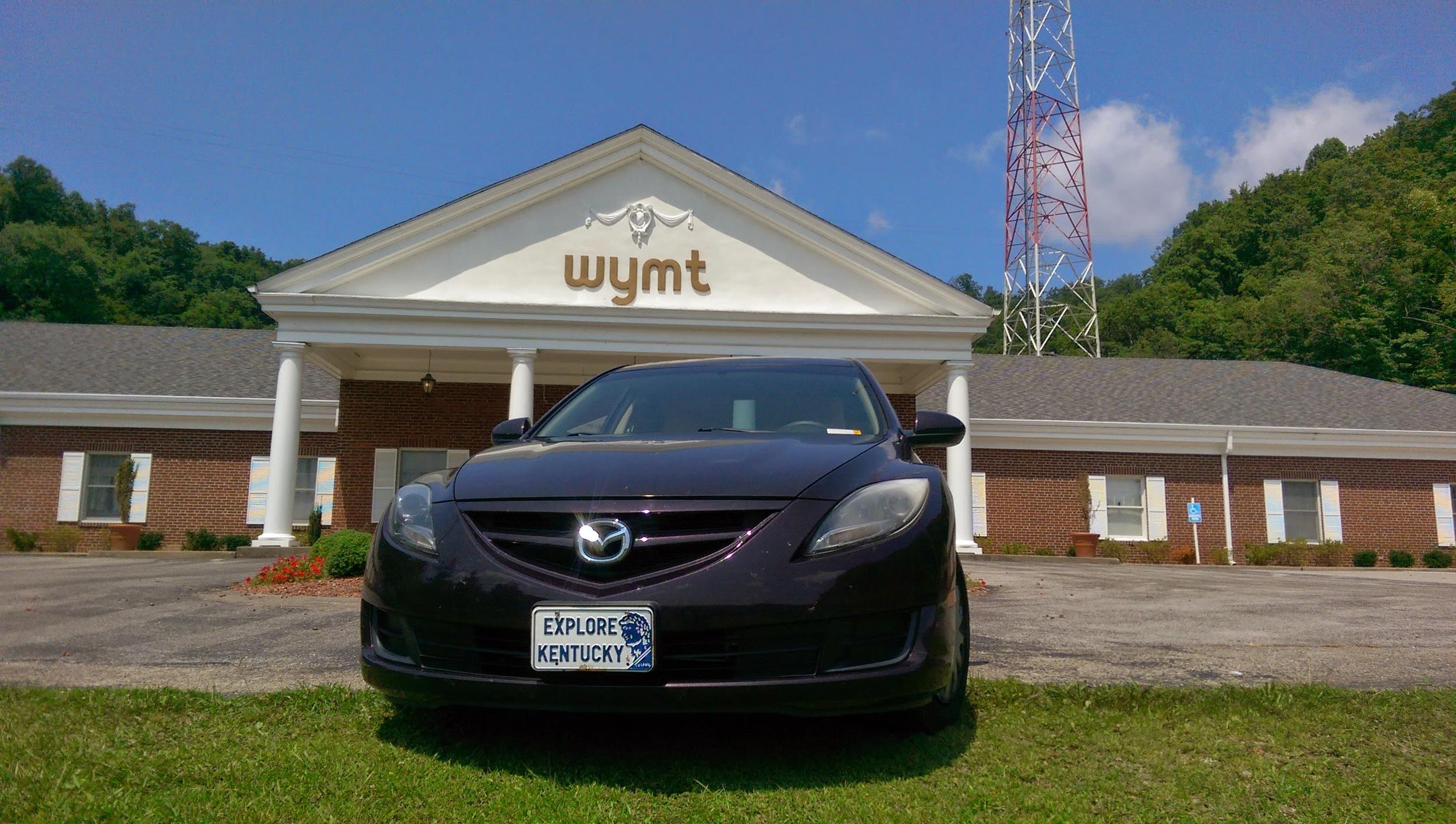 The Explore Kentucky Land Cruiser at WYMT-TV in Hazard, KY Photo by: Gerry Seavo