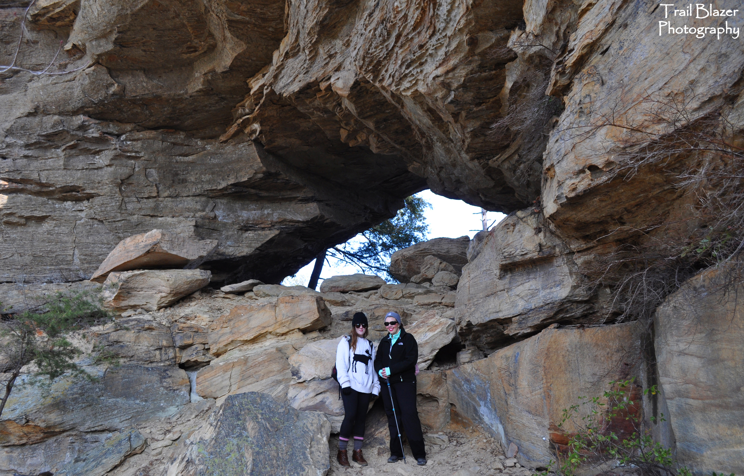 Lauren and Jenny at Castle Arch.