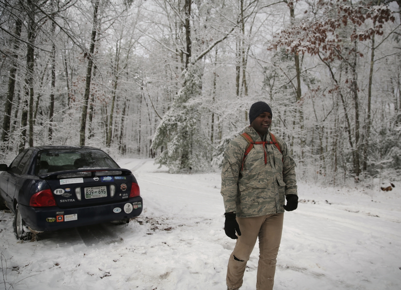 """Gerry at the """"trailhead.""""  Photo byNate Spicer"""