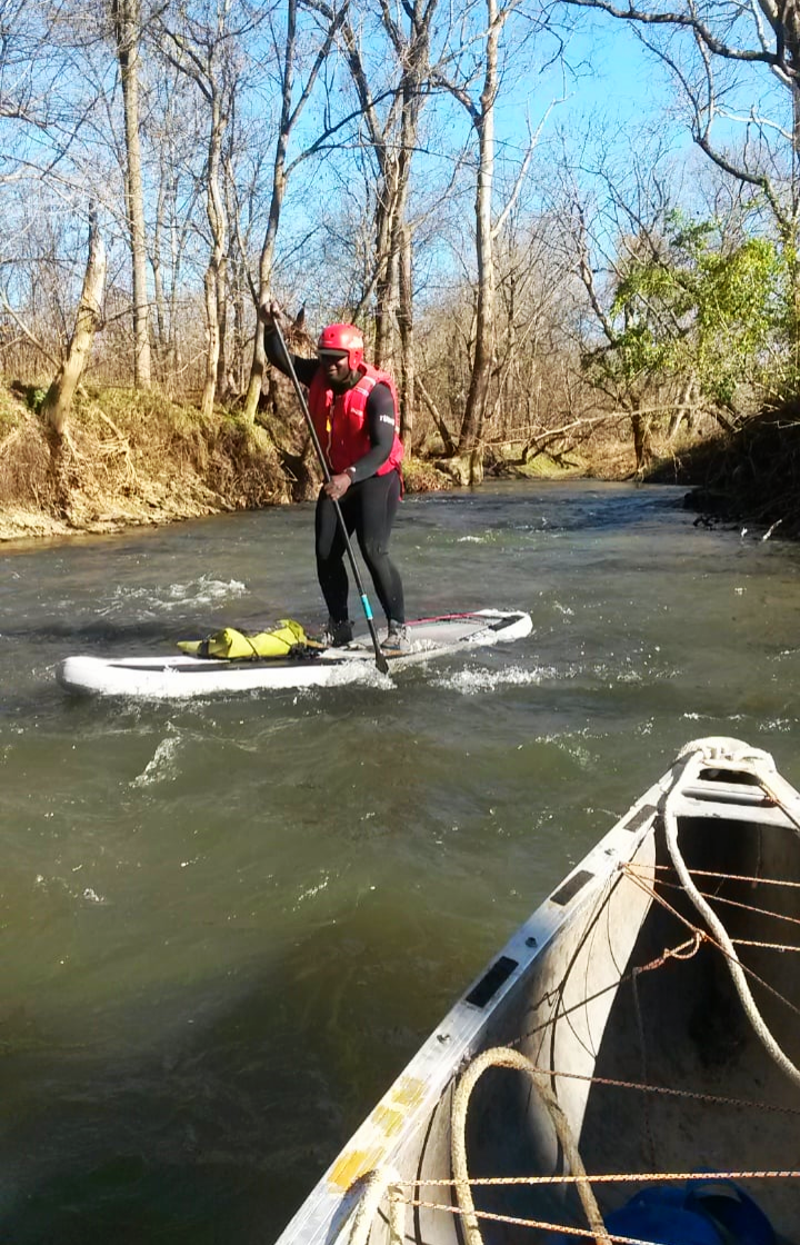 Running Floyd's Fork in Jefferson County at 750 CFS.