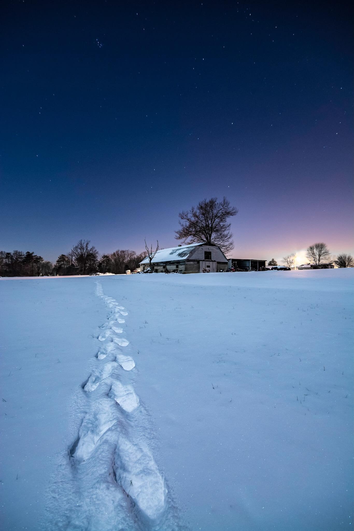 Trails in the snow in Mount Washington, Kentucky  Photo via Matthew McClintock Photography
