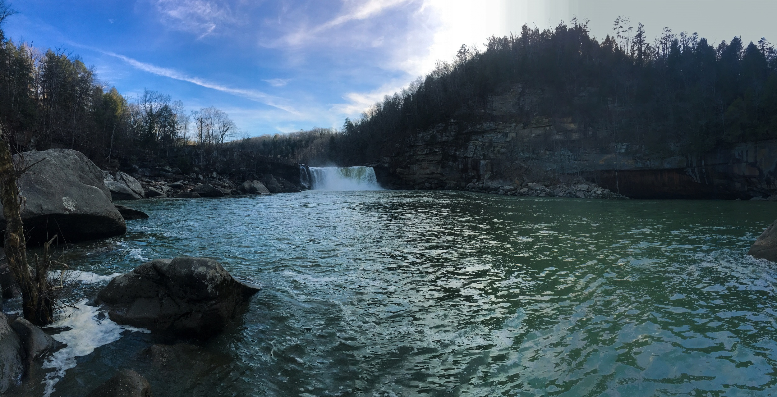 Panorama of Cumberland Falls State Park. Shot on iPhone 6s