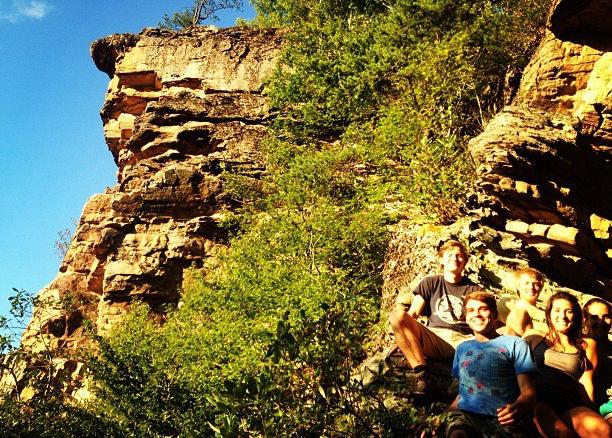 Lexington climbers. From left to right: Kirk Jenkins, Doug Burton, Byron Hemple, Kylie, and Anna Meador.Photo: Kylie Schmidt