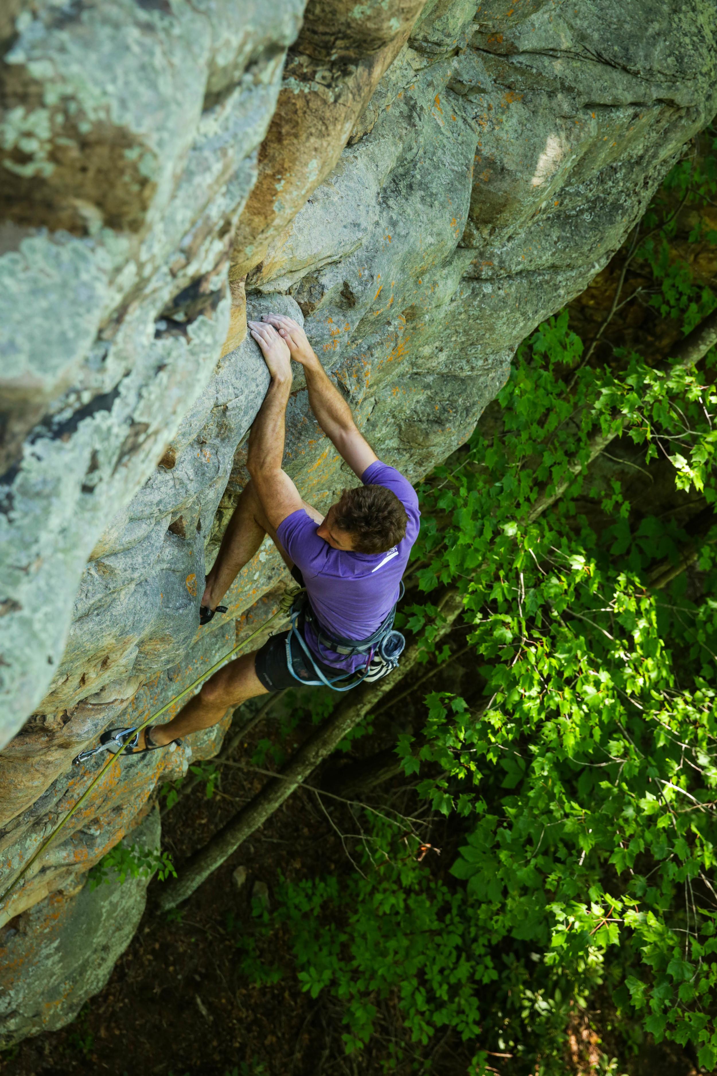 Zachary Lesch-Huie enjoying How Do You Spell Breaks, 5.10a.Photo:  Gerry Seavo James