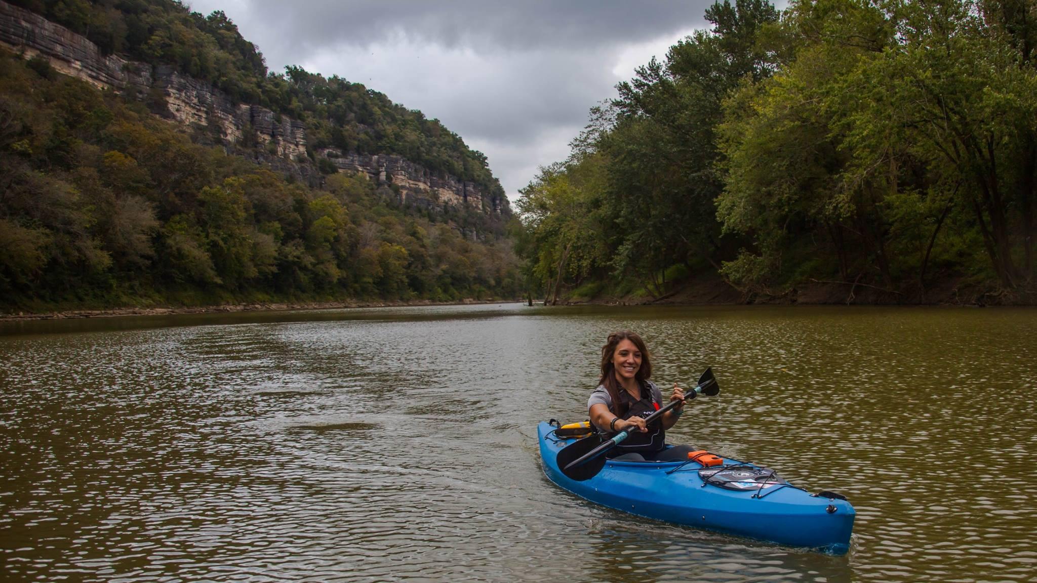 EKI's Shara Sumner, an ACA Level II Kayak Instructor. Photo via Gerry James