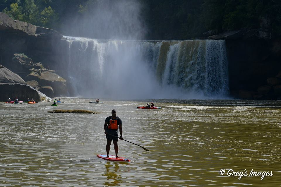 EKI director, Gerry James at Cumberland Falls. Photo via Greg Davis