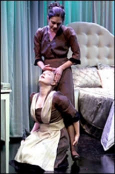 Amanda Jones and Kate Holland in  The Maids.